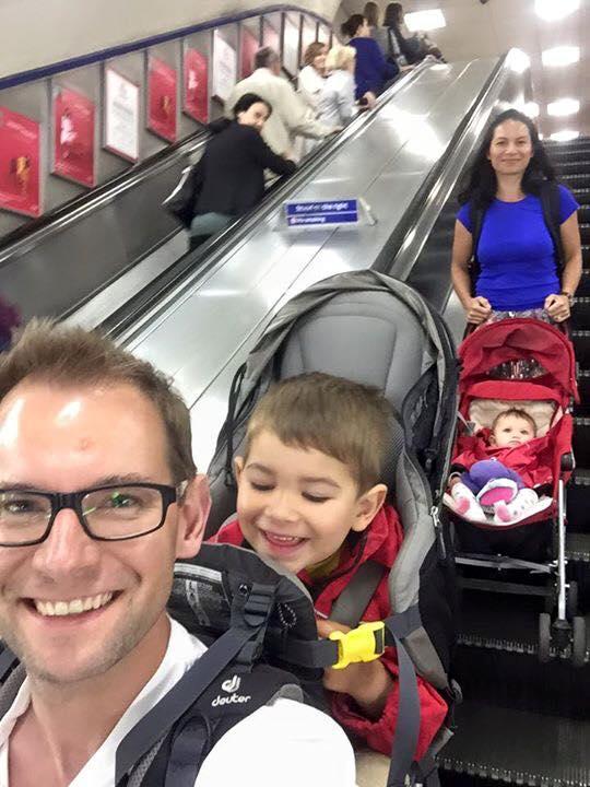 Saskia with Grace, Ben, and her husband Mat.