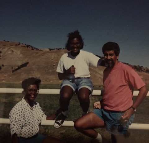 Me and my parents on a road trip through California in 1991.