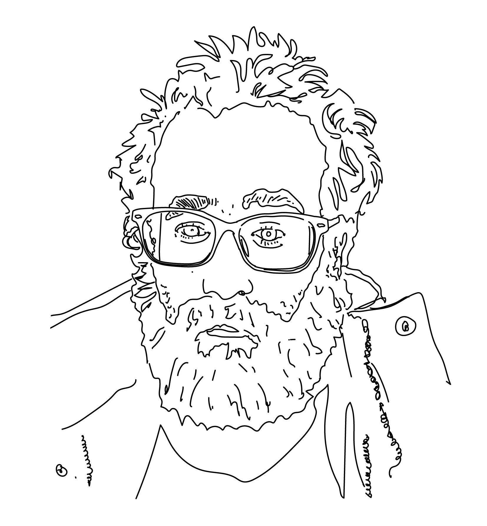 Illustration of Bernardo Robles Hidalgo