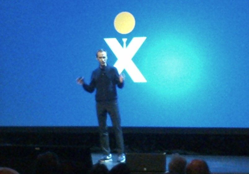 Not a great photo, but best I could get - Founder and CEO, Tomas Gorny - truly a serial entrepreneur, here sharing his vision for Nextiva and announcing their new NextOS platform. More on that to come as well.