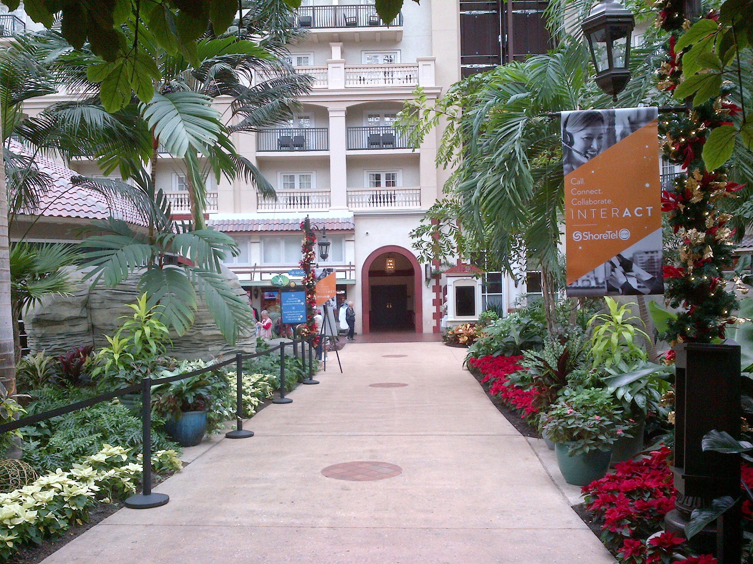 Held at the Gaylord in Orlando - very inviting walkup to the conference.