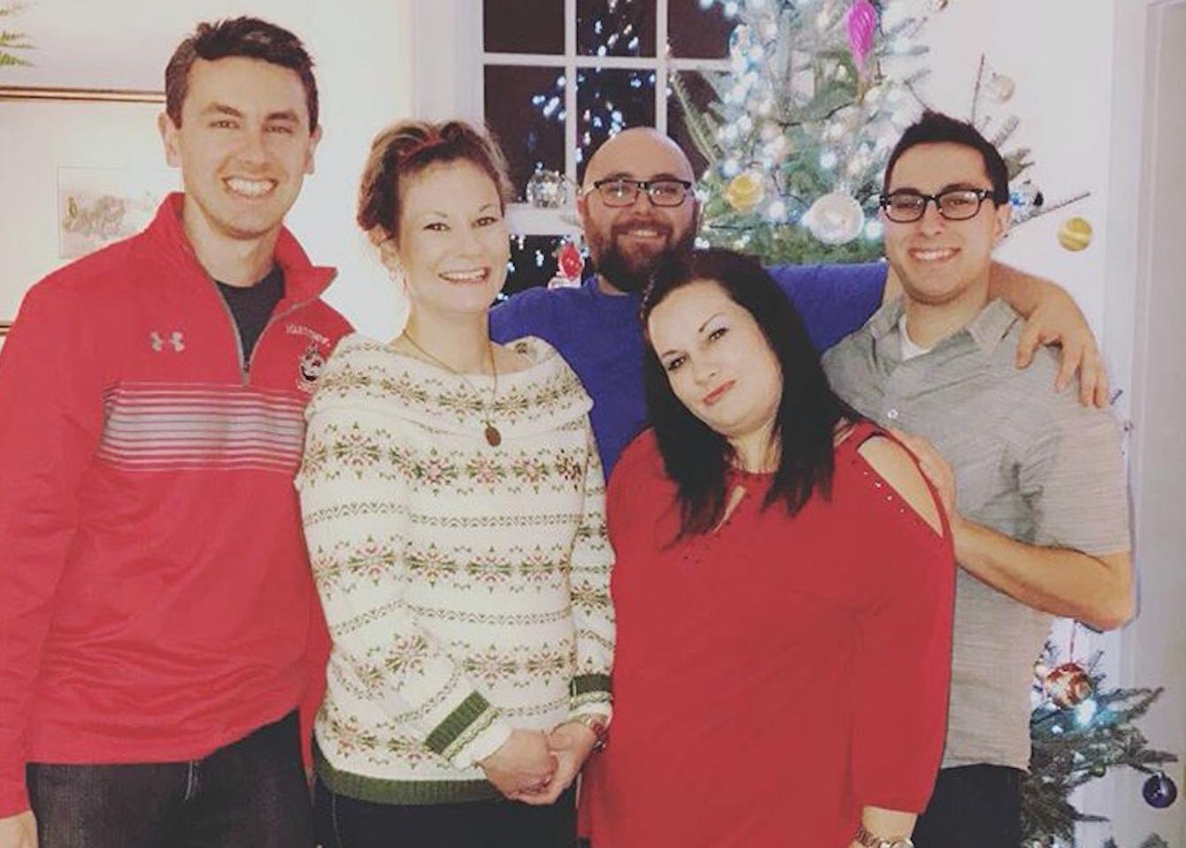 Me and my siblings at Christmas
