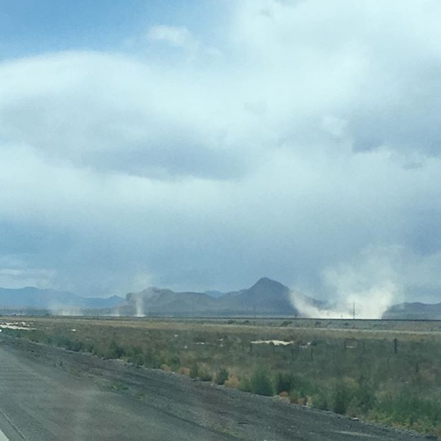 Day 2 on the road included a high and constant wind, dust devils stirring the distance, Hank at the helm, buffeting rain, and a snafu with the trailer. Westward we continue—tomorrow, San Diego!