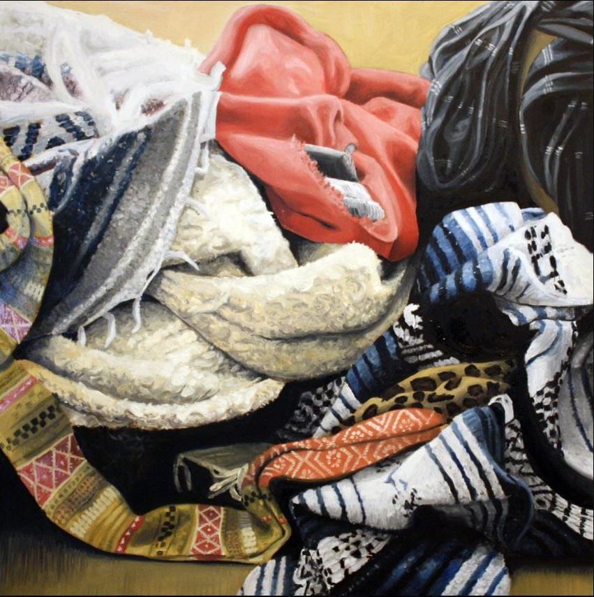 "Untitled # 3, 2016, Oil on Panel, 24"" x 24"""