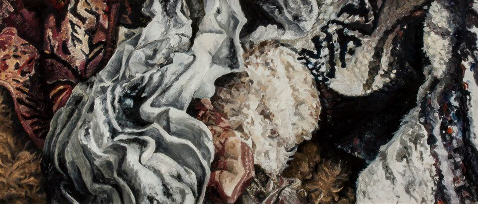 Untitled #4. 2012, Oil on panel, 1.75' x 4'