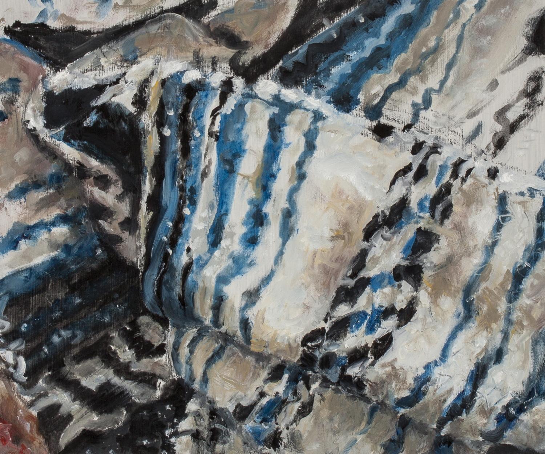 "Study # 1, 2012, Oil on panel, 18"" x 12"""