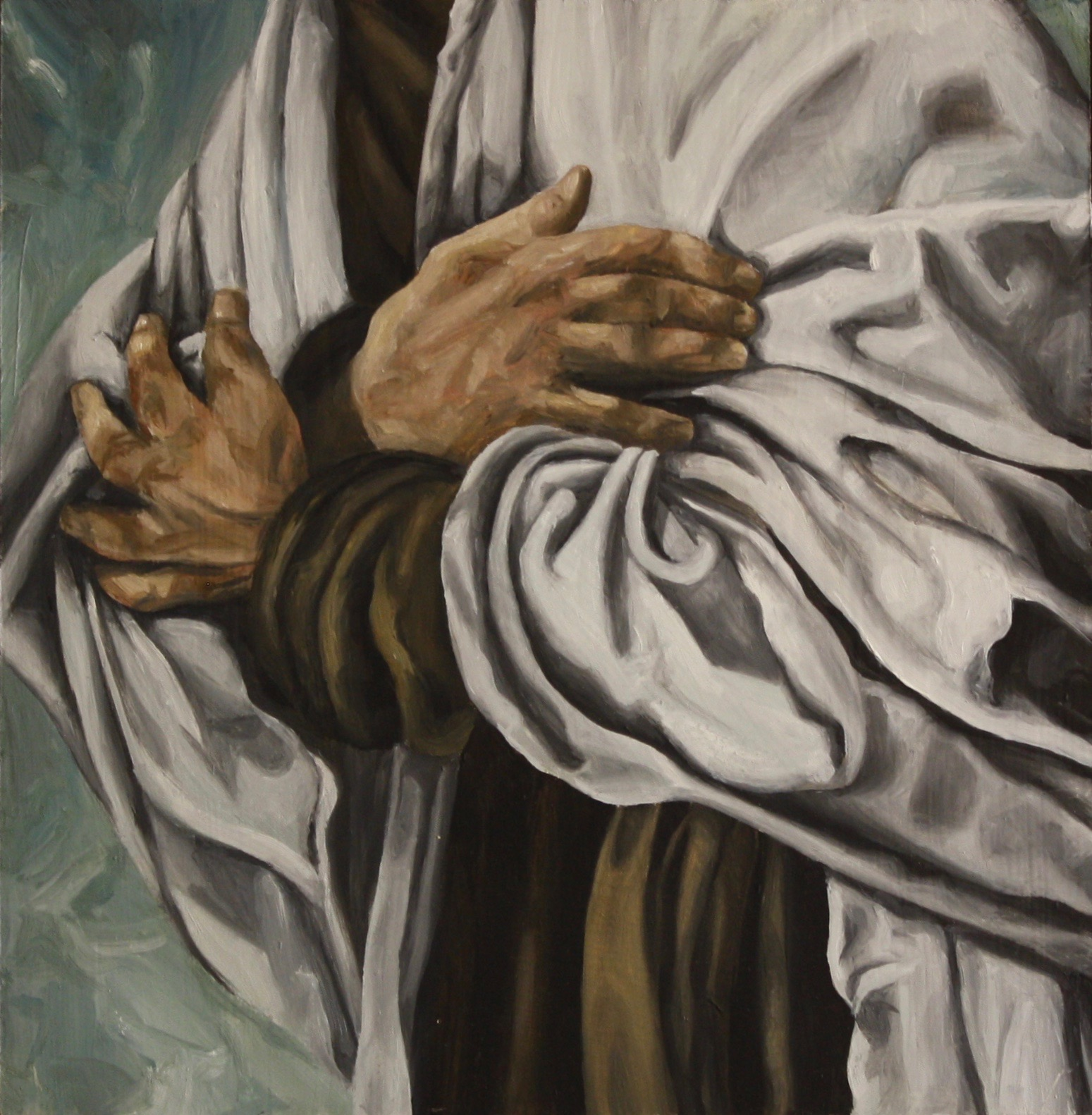 "Elijah, 2019, Oil on panel, 12"" x 12"""