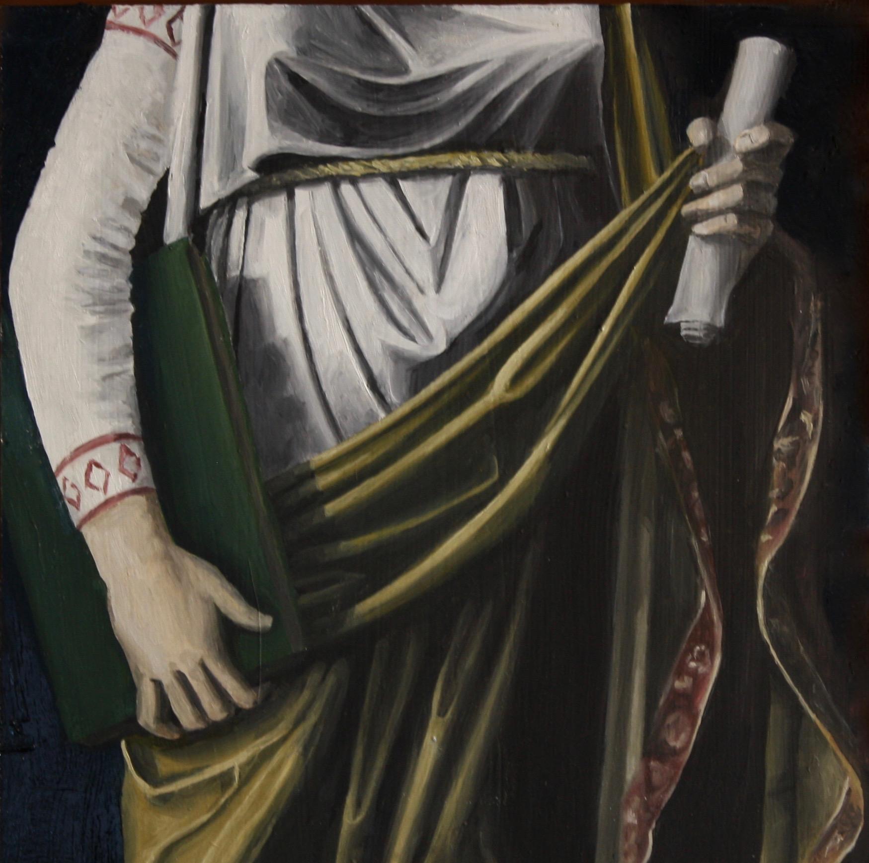 """Apostle I, 2018, Oil on panel, 12"""" x 12"""""""
