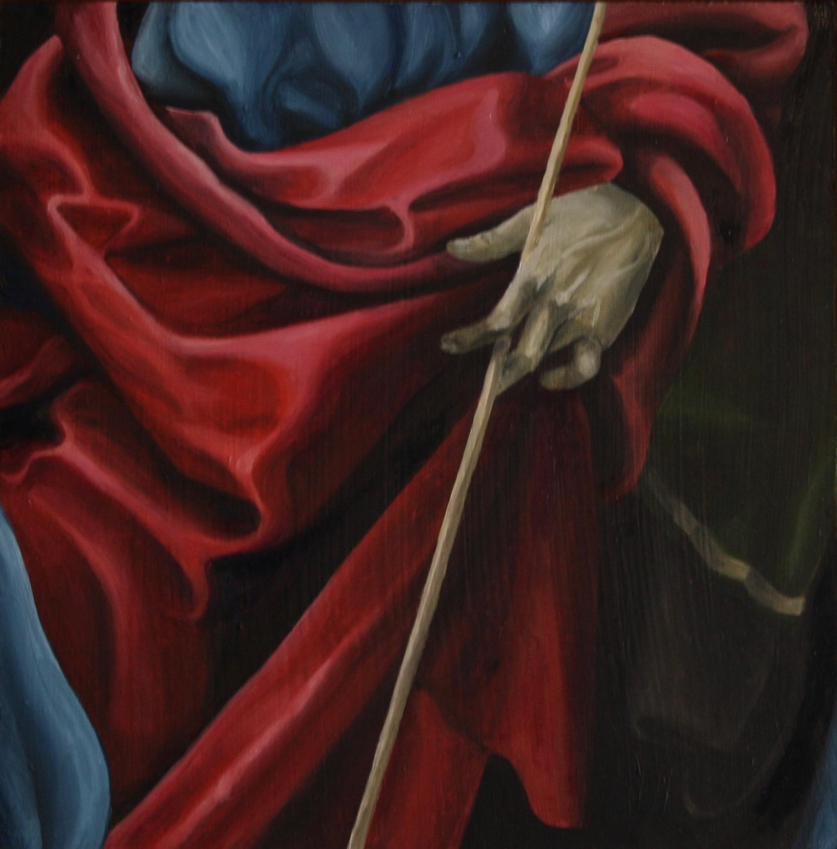 "St. John the Baptist II, 2018, Oil on panel, 12"" x 12"""