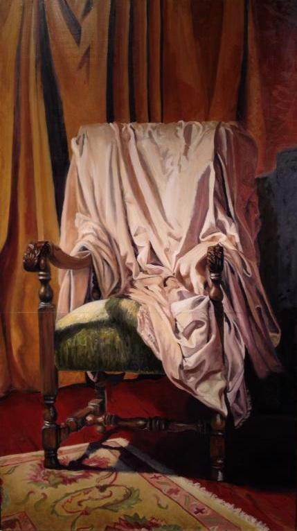 Hetoimasia, 2013, Oil on panel, 4' x 7'