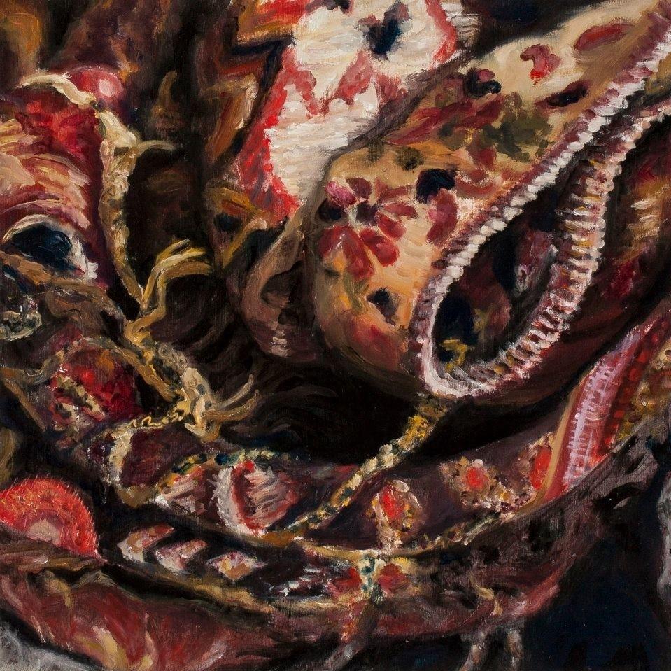 "Study # 4, 2012, Oil on panel, 16"" x 16"""