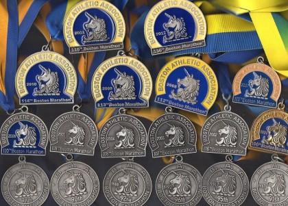24 Boston Marathons between 1979 - 2016 (18 shown)