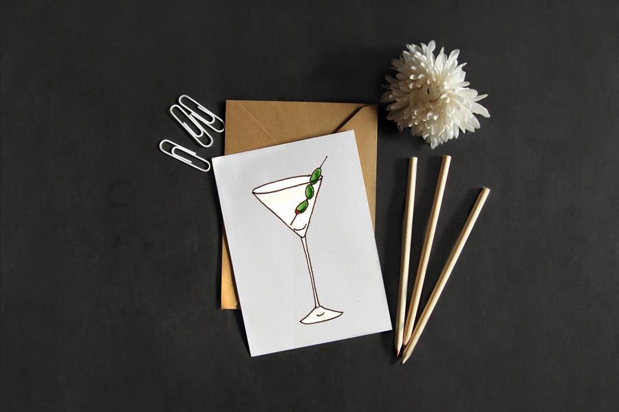 Martini Drink Card