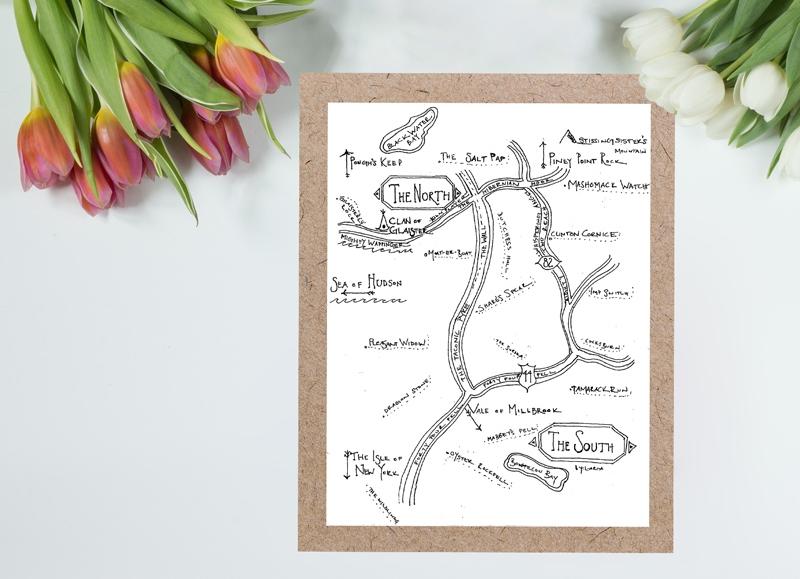 Custom Map Invitation