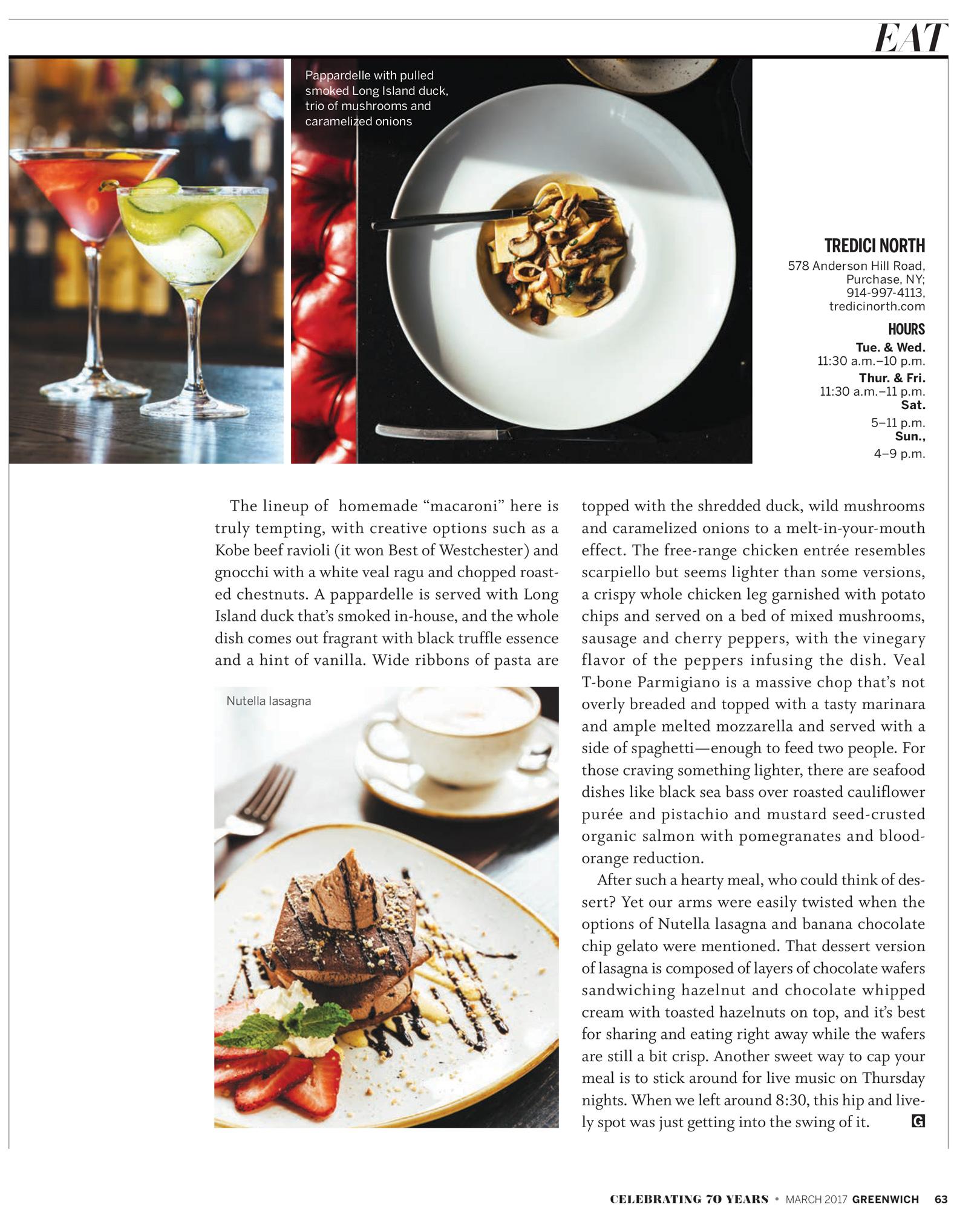 Greenwich magazine, March 2017  greenwichmag.com
