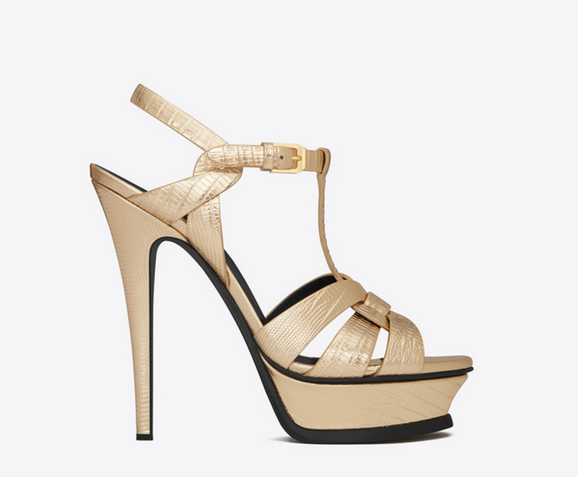 The Tribute Sandal by Saint Laurent.