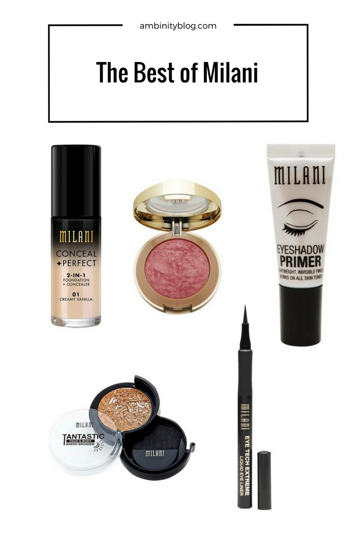 best milani cosmetics products
