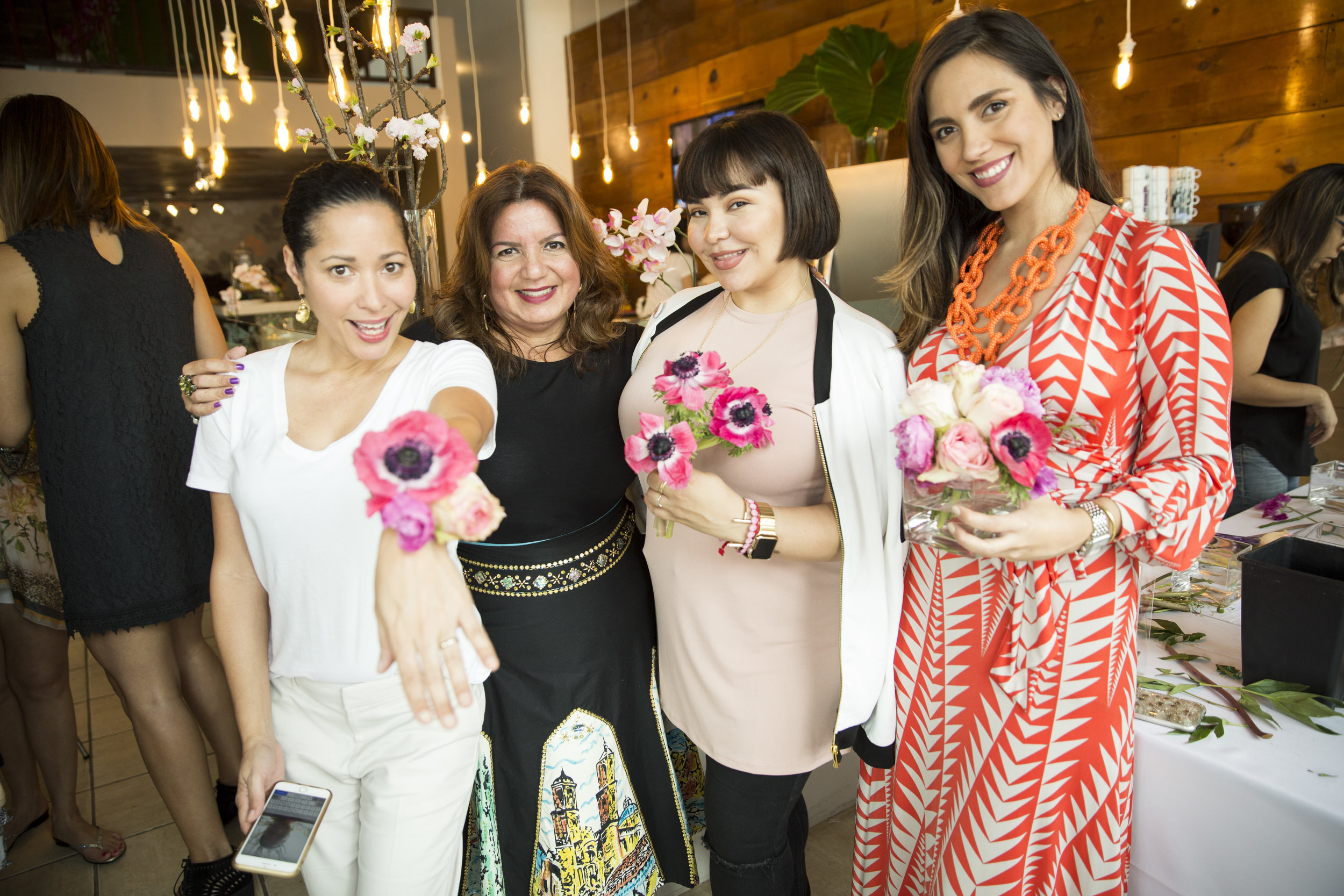 From left to right: Perla Sofía Curbelo from  Agrochic , Anabelle Barranco,  STEM Events  co-owner, Sandra Lobos from  The Decor Hunter  and yours truly wearing a  La Línea Boutique dress .   Picture provided by  STEM Events