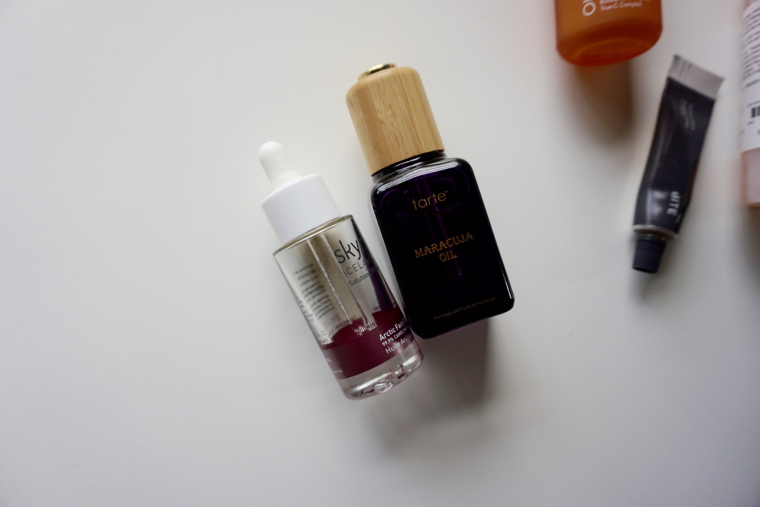 maracuja oil vs artic oil tarte vs skyn iceland