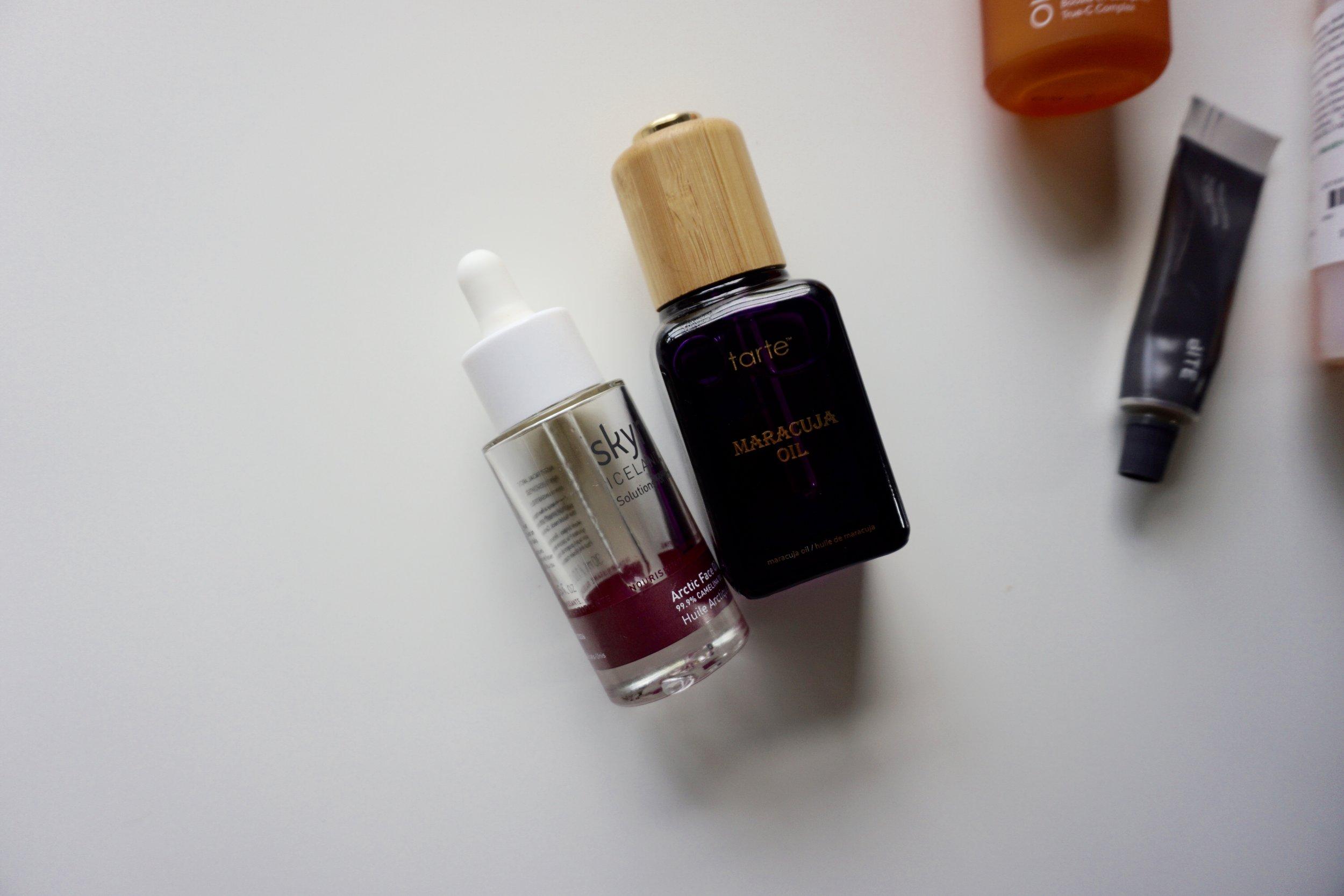 maracuja oil vs artic oil tarte vs skyn iceland