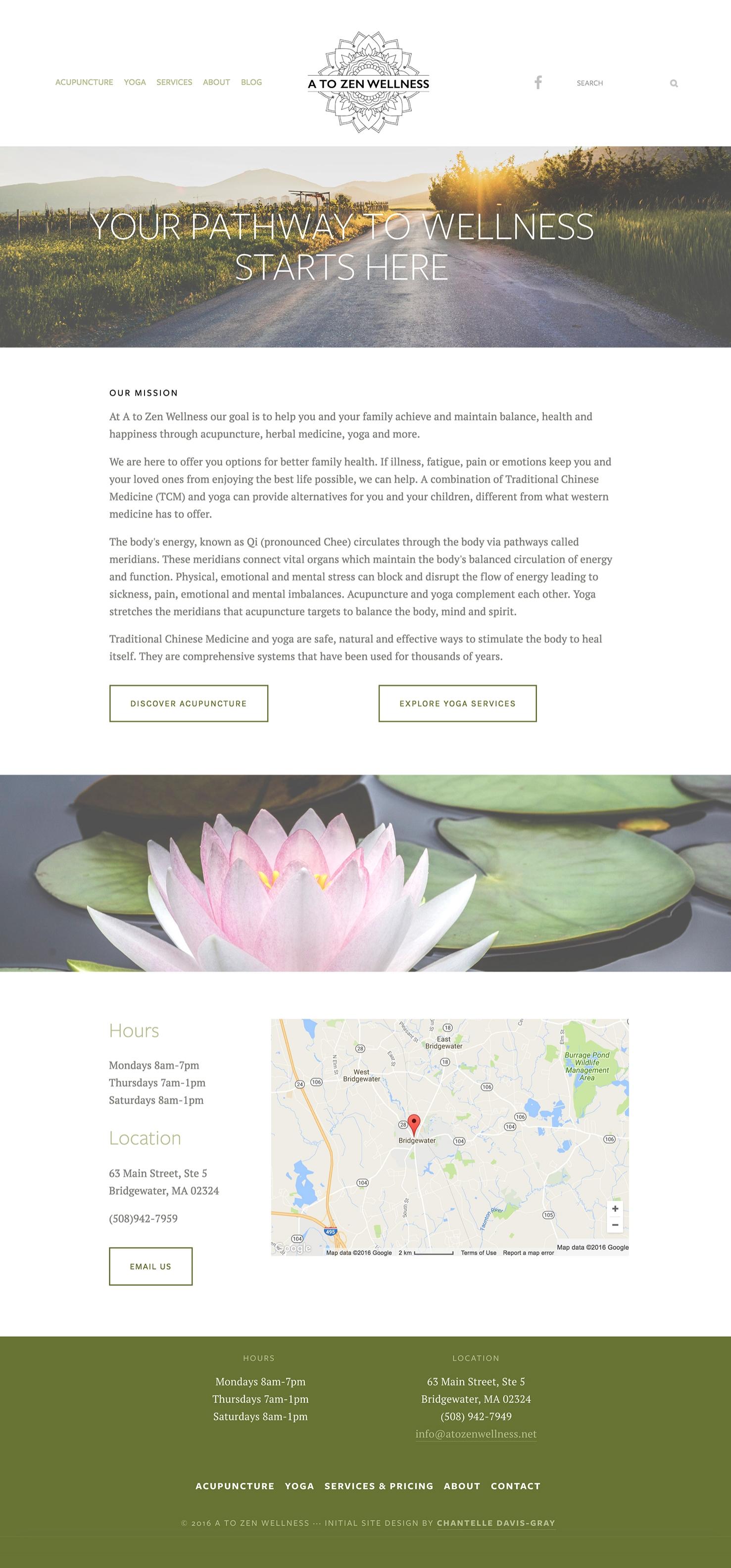 website design logo design acupuncture yoga graphic design