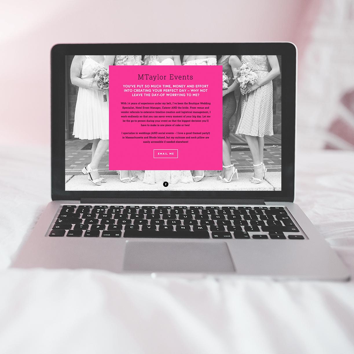 website design graphic design squarespace event planner wedding planner