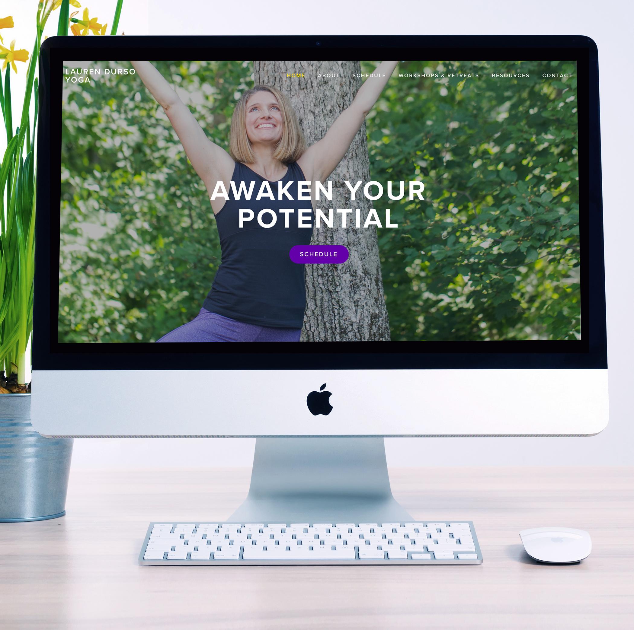 website design squarespace yoga teacher