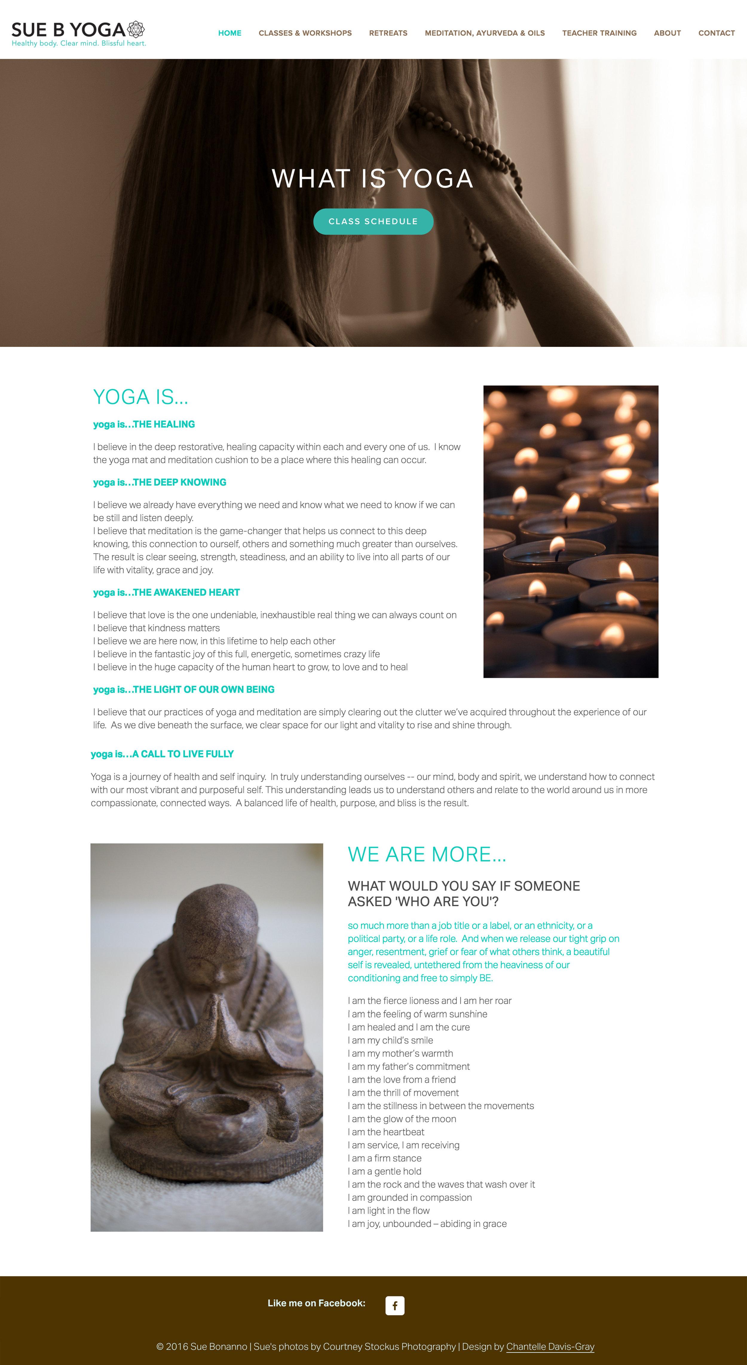 website design squarespace yoga instructor graphic design logo