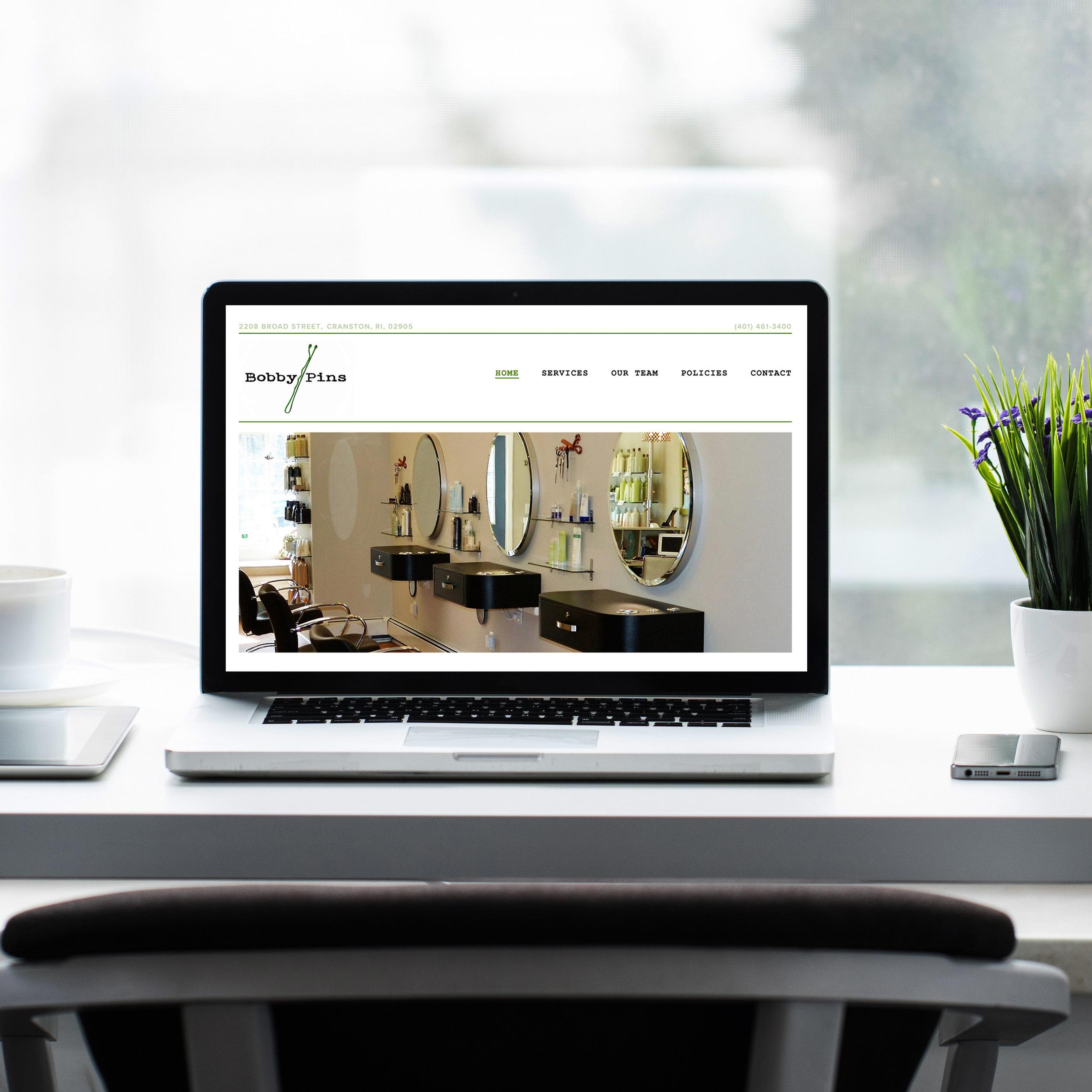 website design web design squarespace hair salon