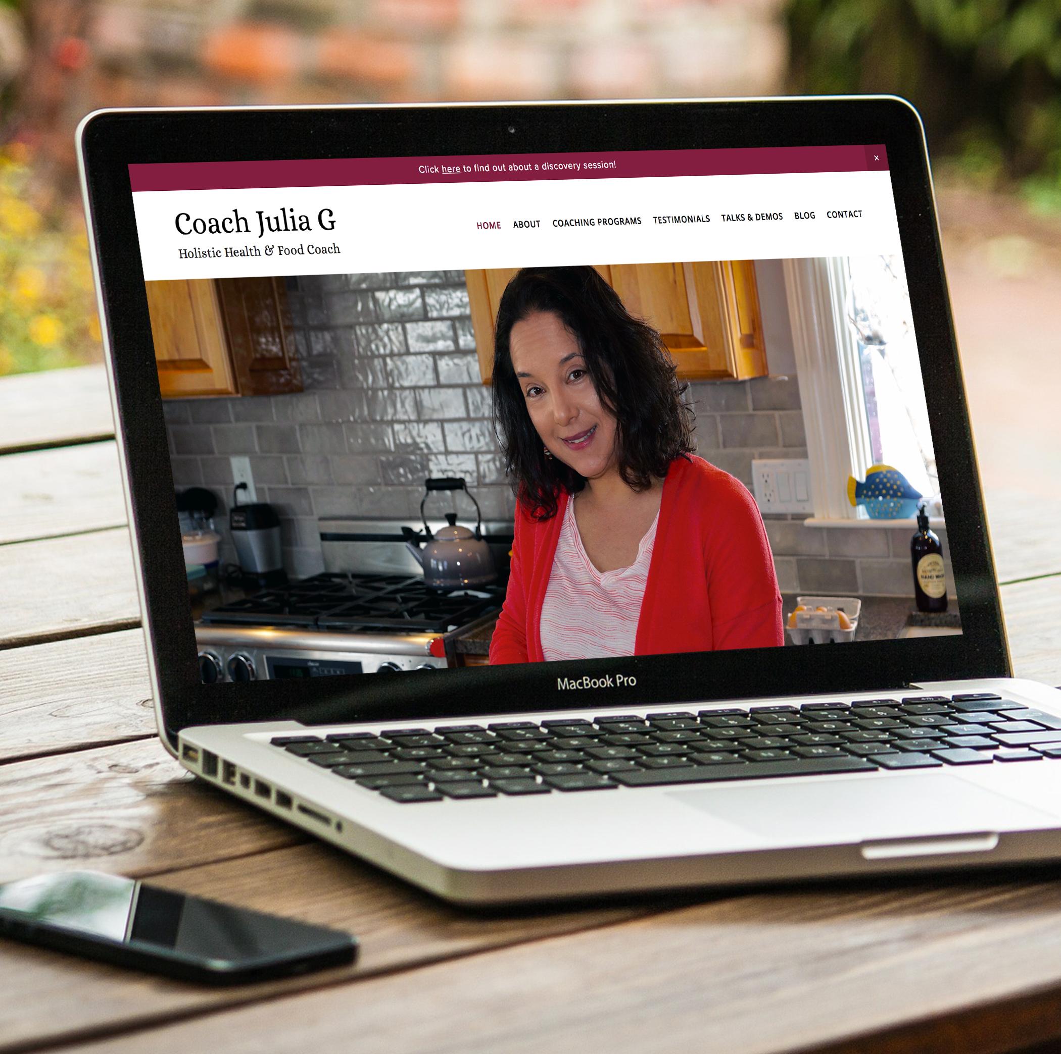 website design web design squarespace health coach
