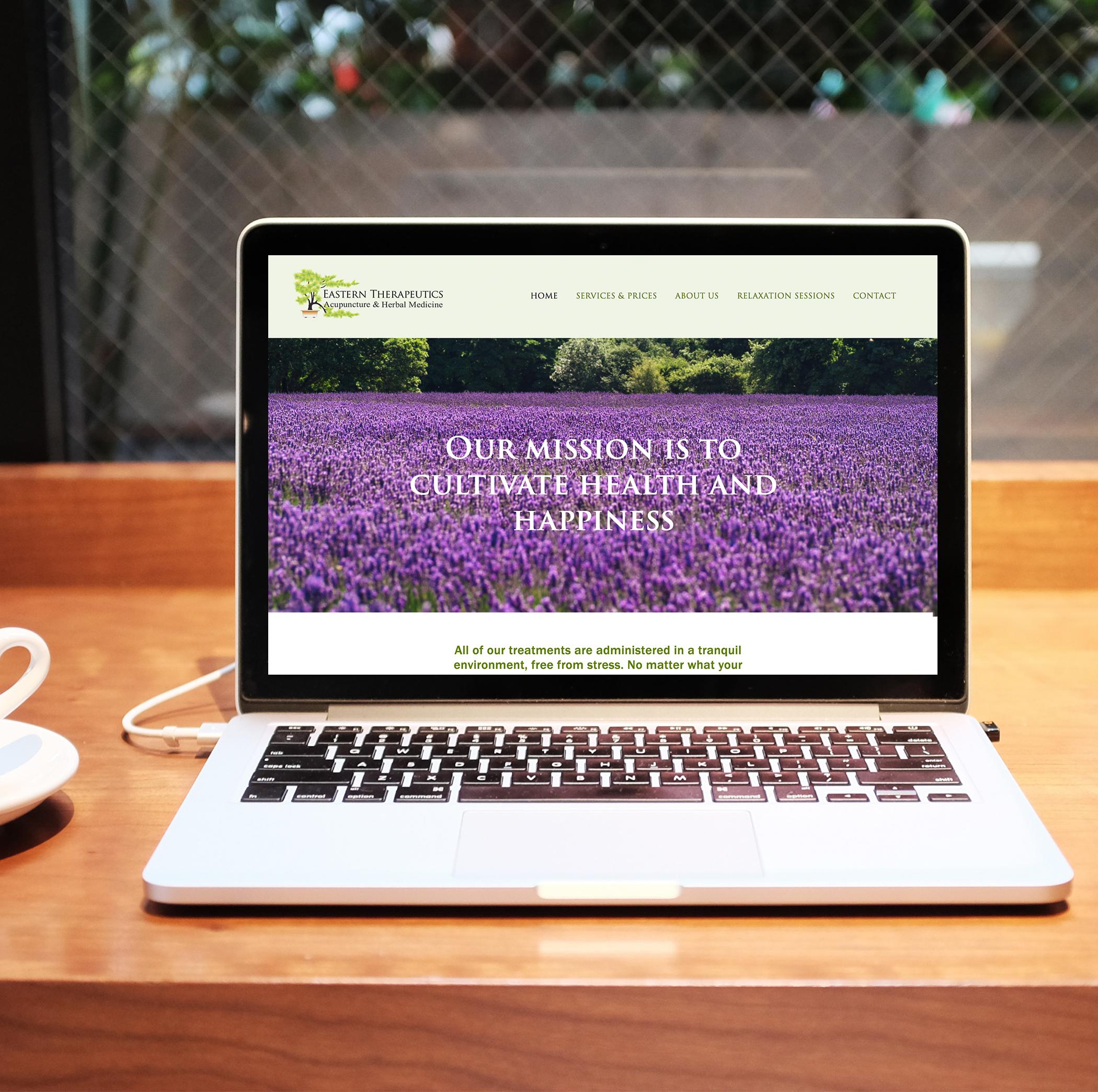acupuncture wellness squarespace website design
