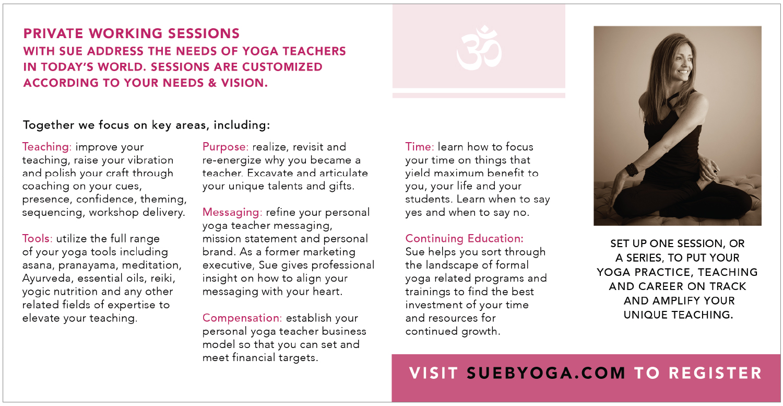 inside of the yoga brochure