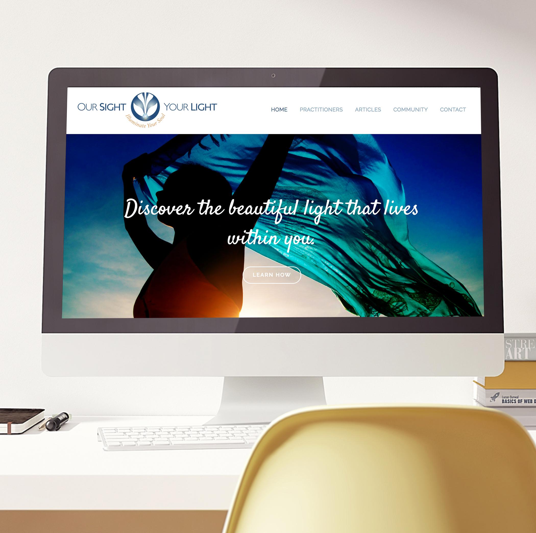 lightworker reiki healing tarot cards squarespace website design