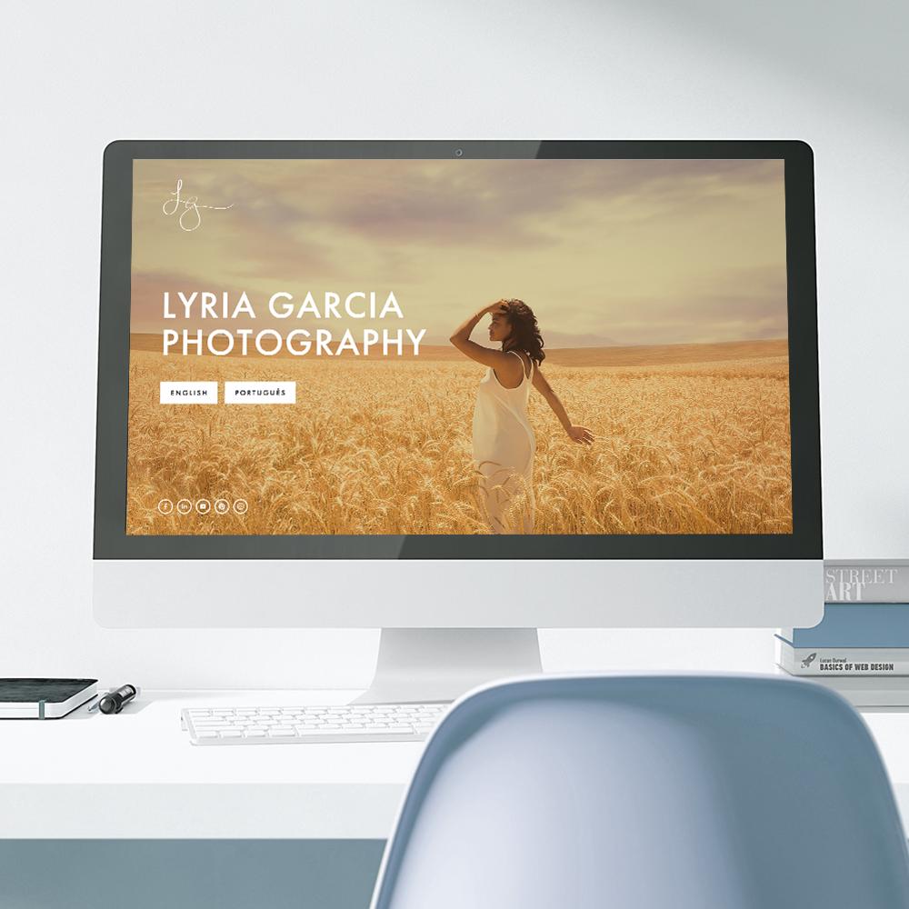 Lyria Garcia new bilingual website designed on Squarespace