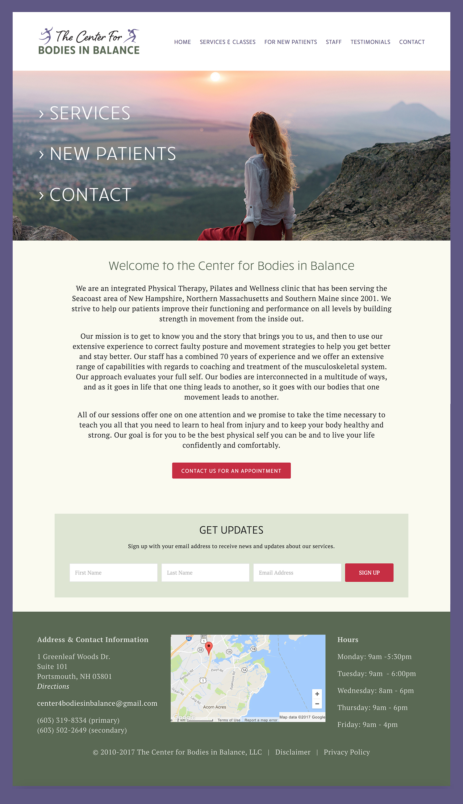 the new physical therapist website