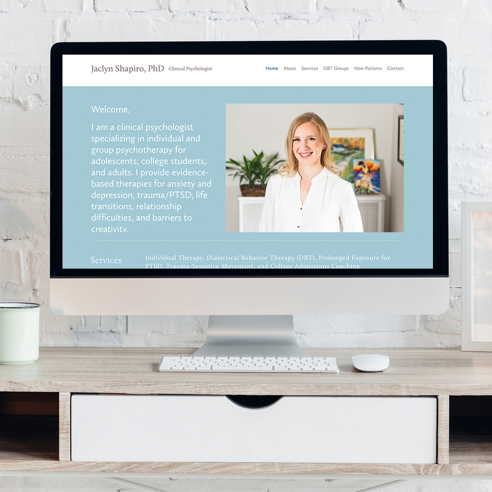 squarespace website of psychologist in brookline, ma