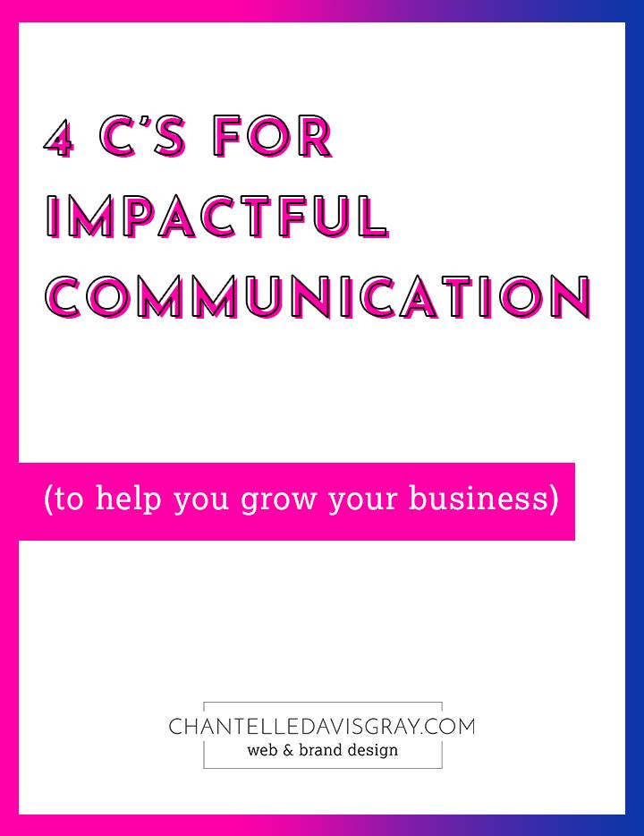 4 Cs for Impactful Communication