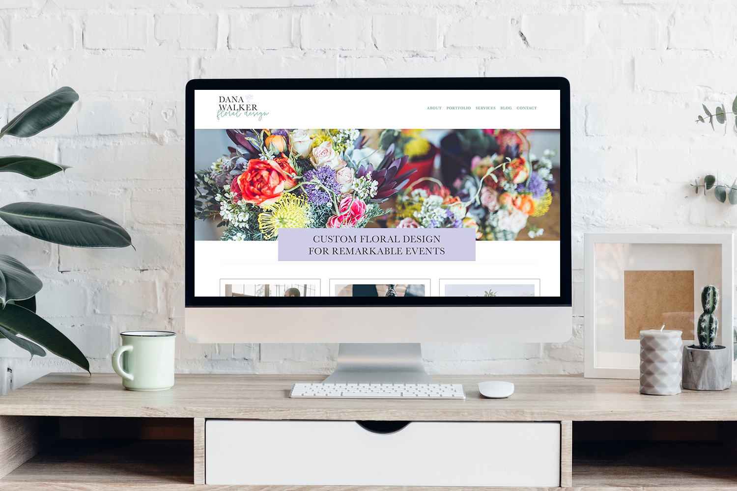 Floral design website design on Squarespace