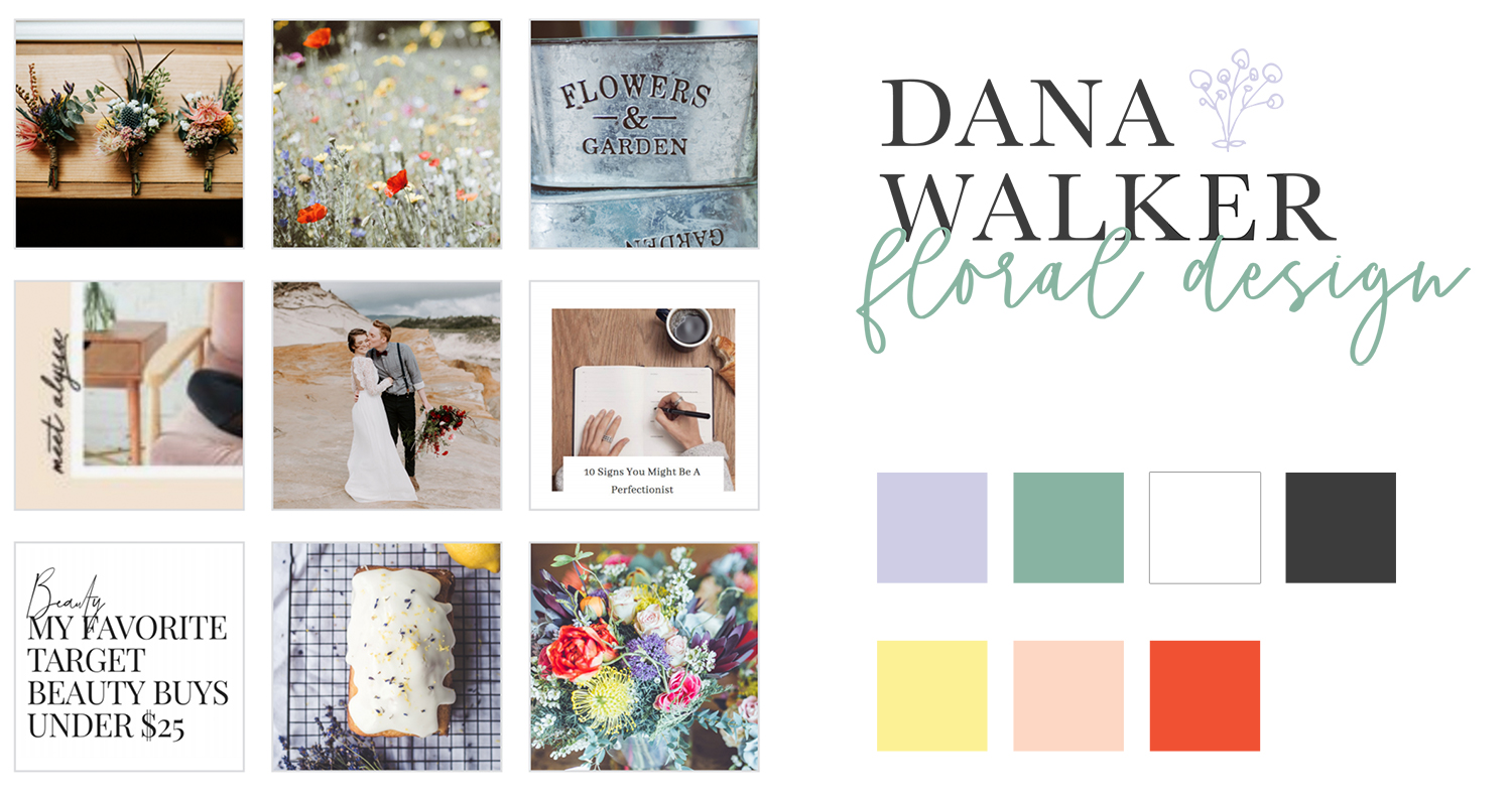 Brand design for wedding florist