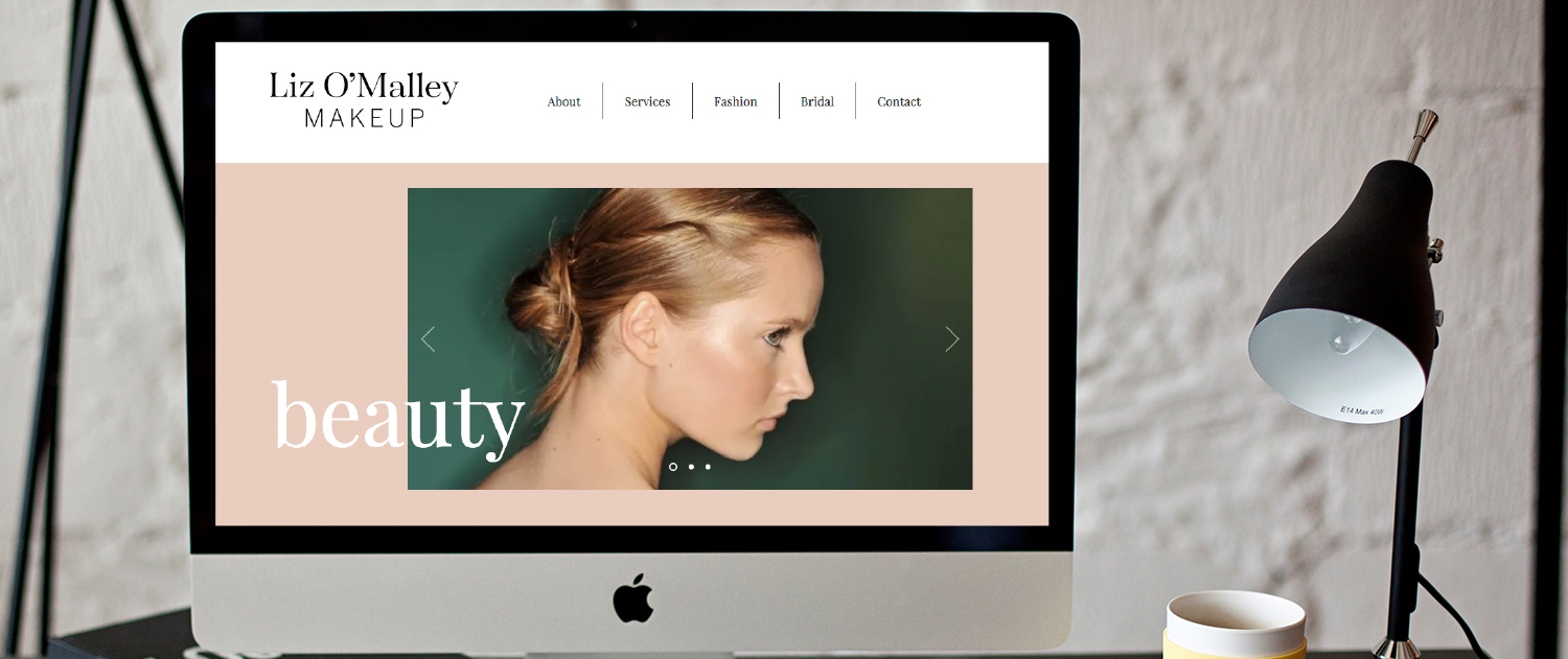 Makeup artist squarespace website