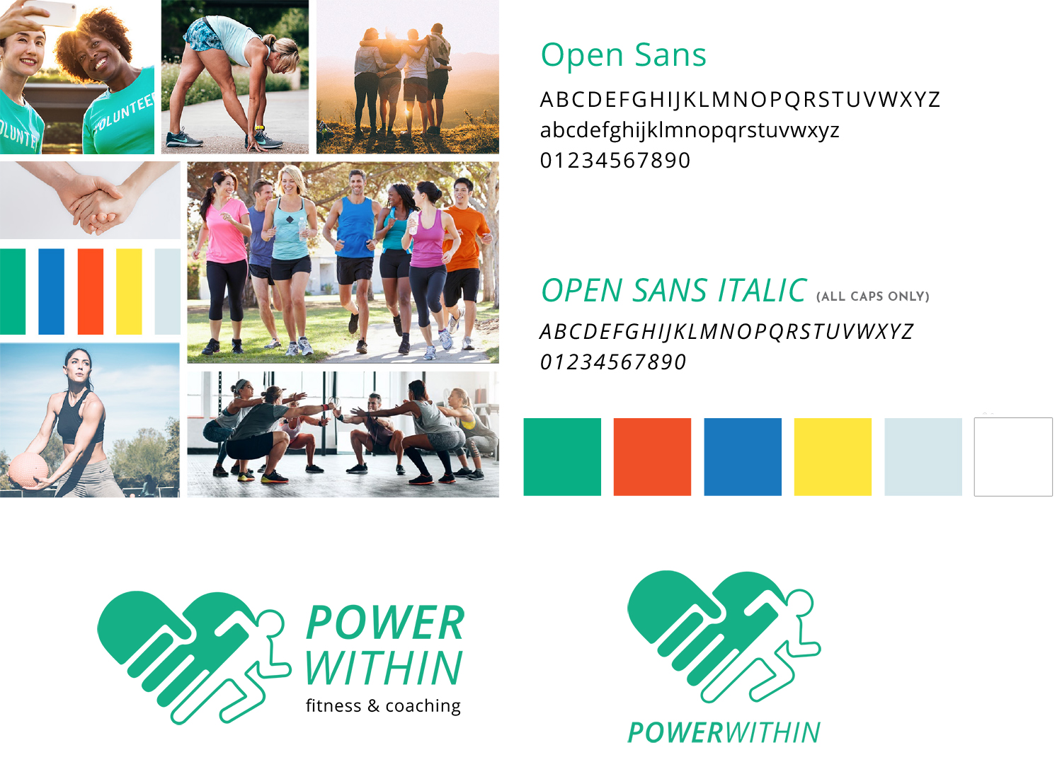 Personal trainer & running coach brand and logo design