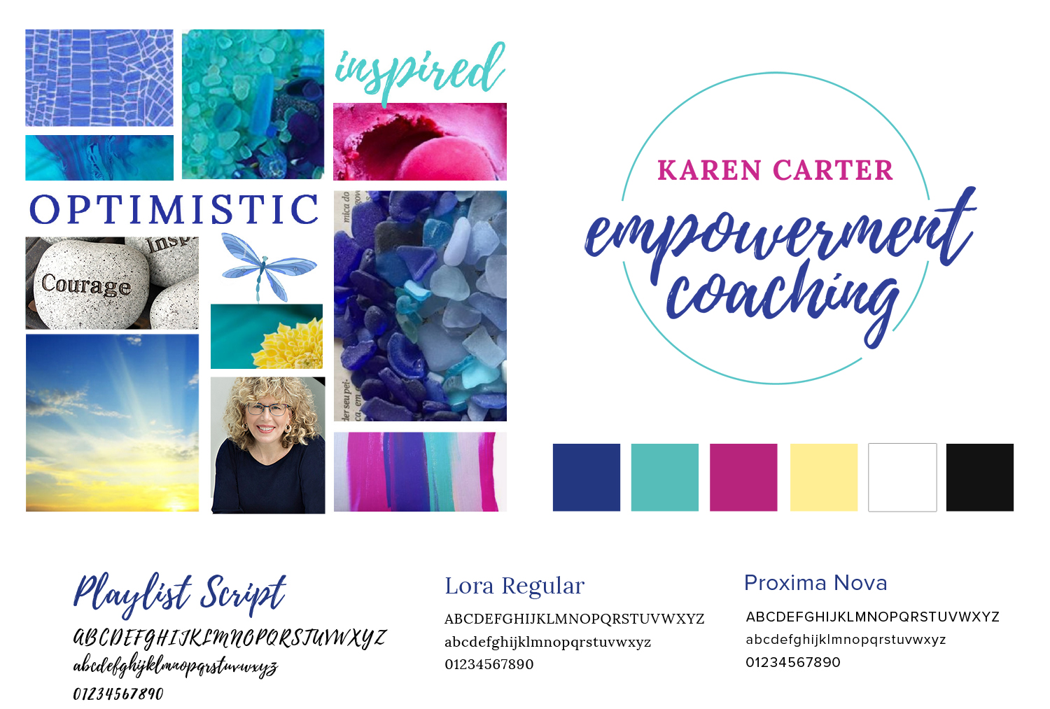 Brand style guide and logo design for empowerment coach