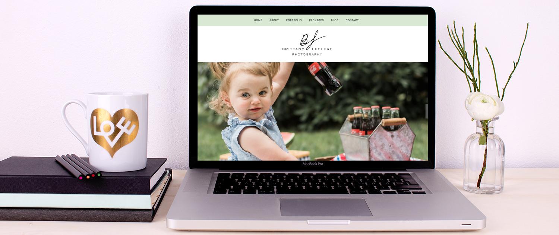 Newborn & family photographer Squarespace website design