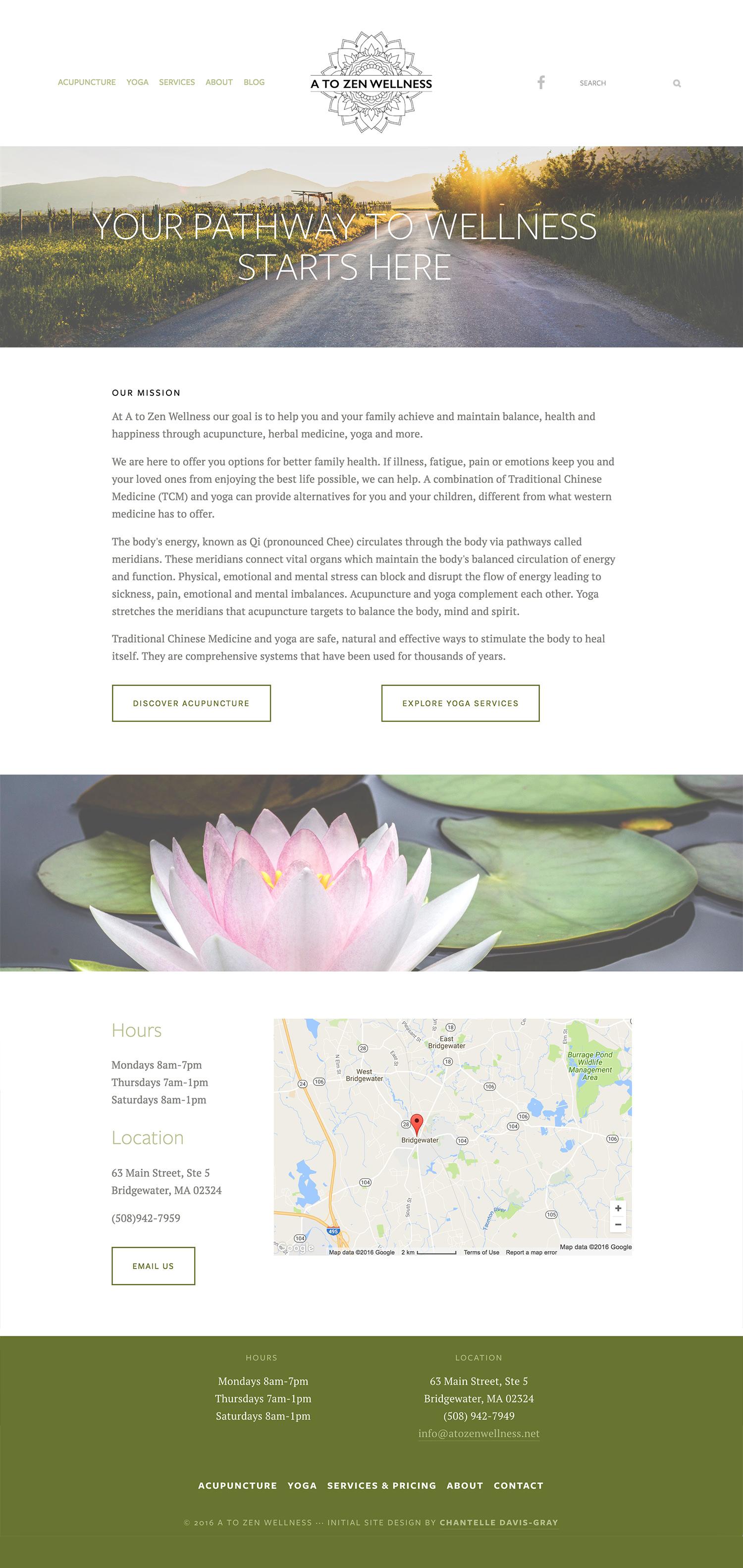 Acupuncture, herbal medicine and yoga Squarespace website design