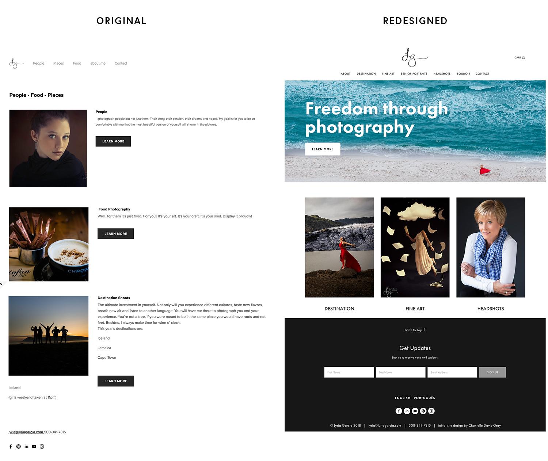 Boston photographer website design