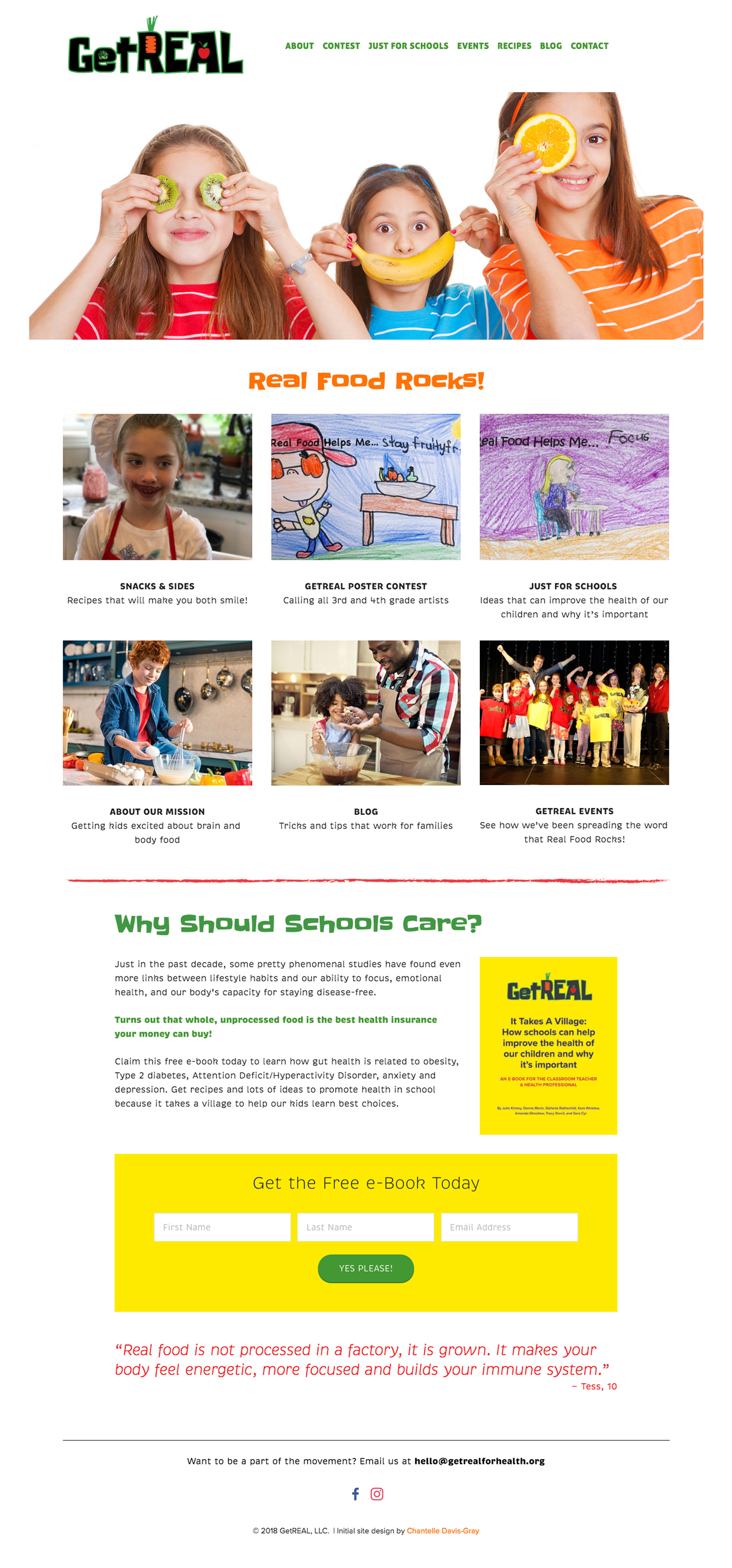 Squarespace website for nutrition & healthy kids