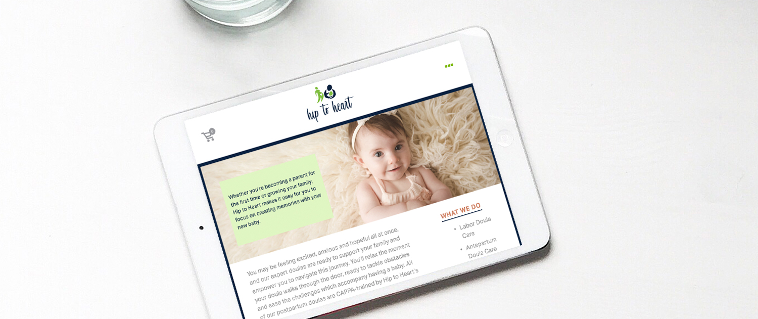 Doula website design on Squarespace and Dubsado set up