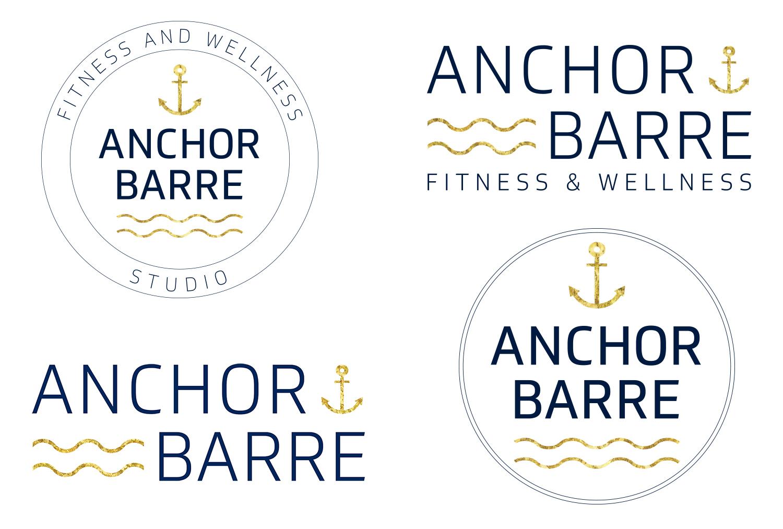 Multiple logo versions for barre & fitness studio