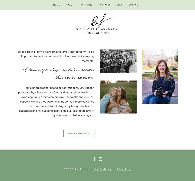 New england family photographer squarespace website