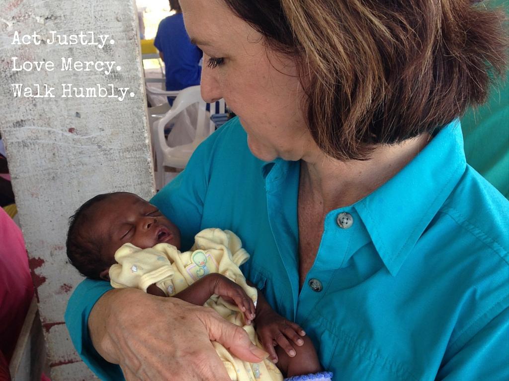 Dana in Haiti, 2014.